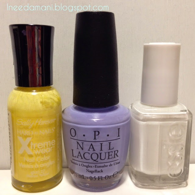 sally hansen xtreme wear mello yellow opi you're a budapest essie blanc