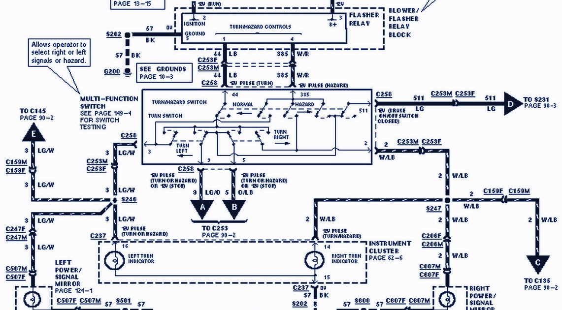 1991 Ford F150 Wiring Diagram 1995 Fuel Pump •