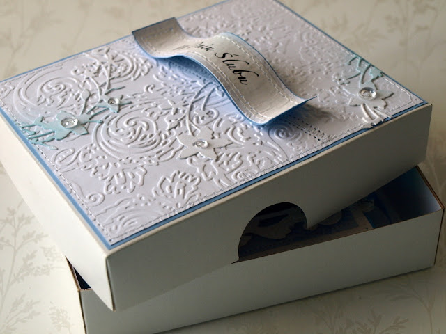 sizzix embossing folder_wedding box