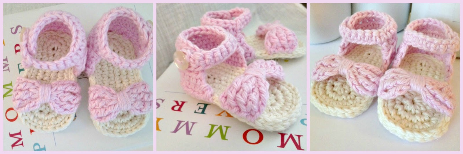 Simple Crochet Patterns For Baby Booties : Crochet Baby Sandals