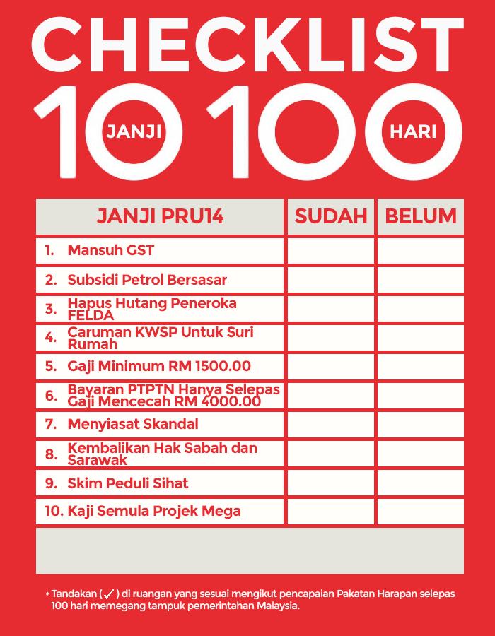 10 JANJI 100 HARI