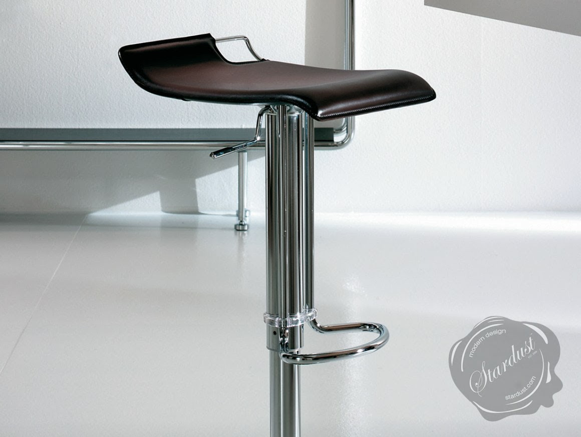 Hoppy Leather Bar Stool Adjustable Modern Kitchen