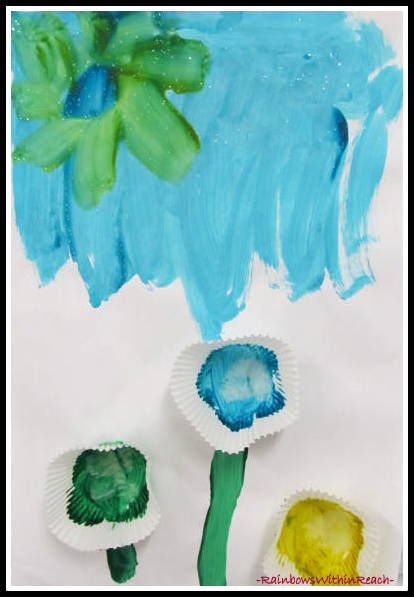photo of: Children's Art Project for Spring Flowers via RainbowsWithinReach
