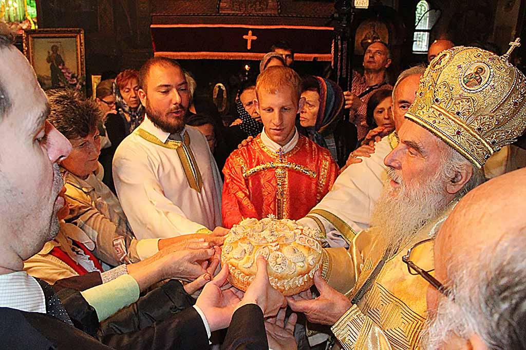 Крстовдан у Вождовачком храму, 2015. лета Господњег