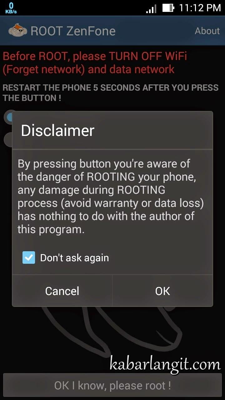 Cara Cepat Root ASUS Zenfone 5