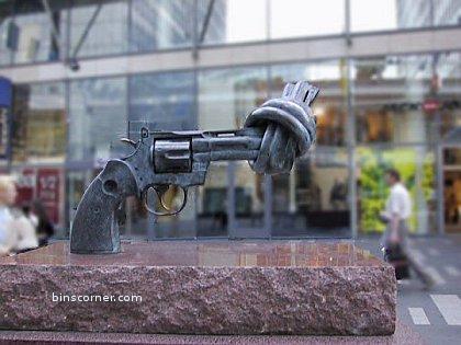 pistol statue