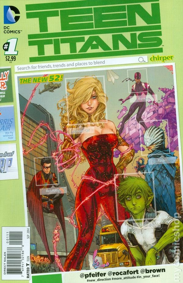 Written By Will Pfeifer Art And Cover Kenneth Rocafort Red Robin Wonder Girl Raven Bunker Beast Boy Step Out Of The Shadows Adult Heroes
