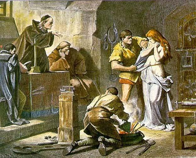 Beginning of the interrogation. Illustration. XIX.
