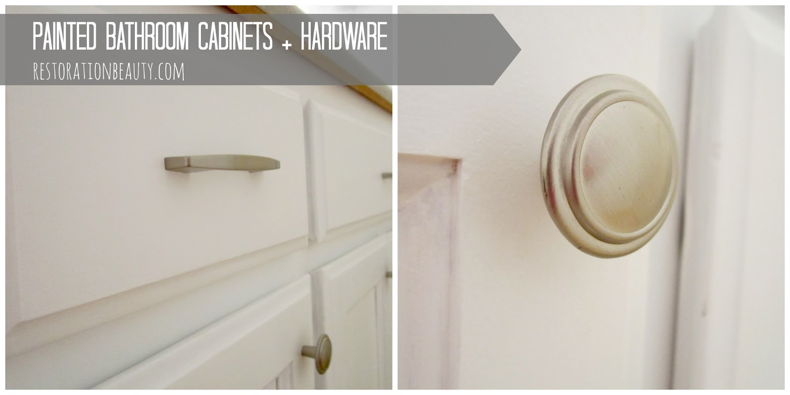 painted bathroom cabinets hardware
