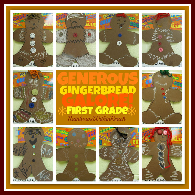 photo of: Gingerbread People in First Grade via RainbowsWithinReach