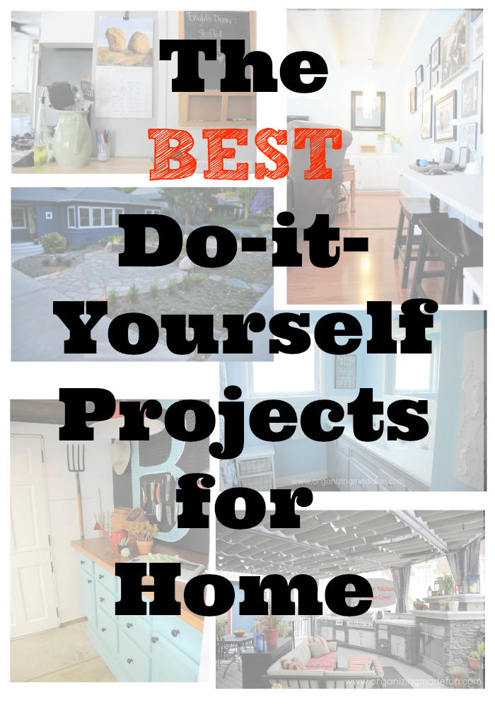 The BEST do it yourself projects for the home :: OrganizingMadeFun.com