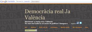 Google mos traduïx la democràcia real