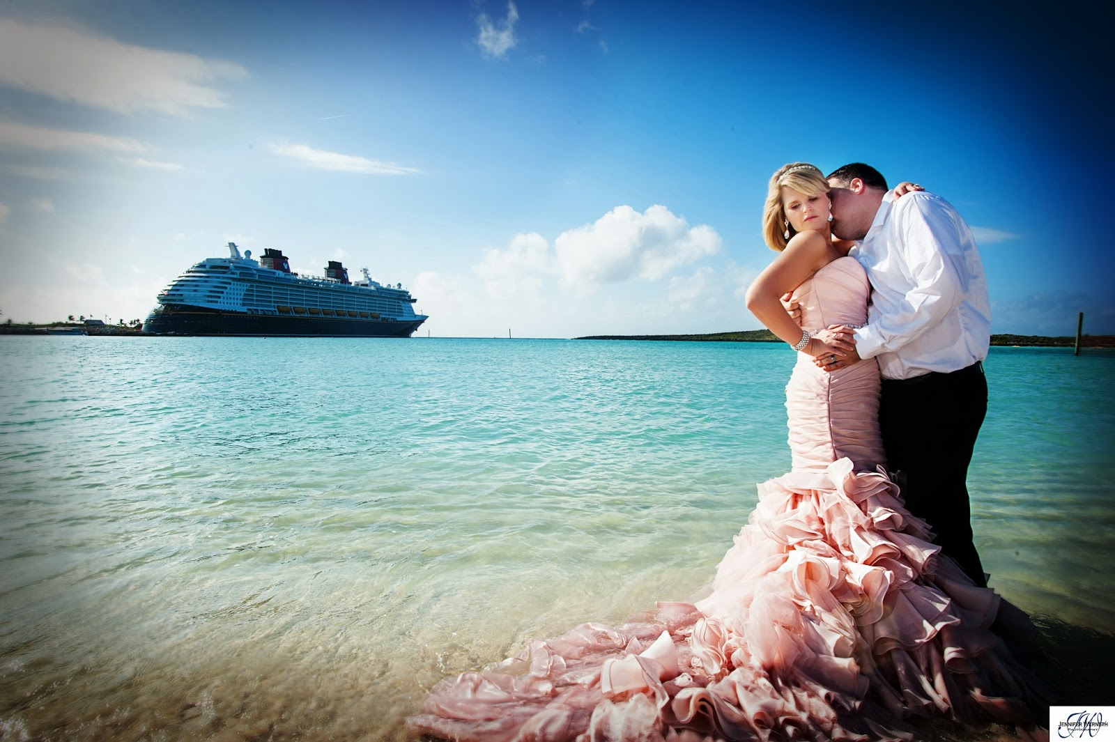 wedding photography on disney dream cruise ship