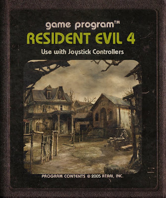 RE4 Atari 2600 Classic game old art Resident Evil 4 Zombies Image Retro