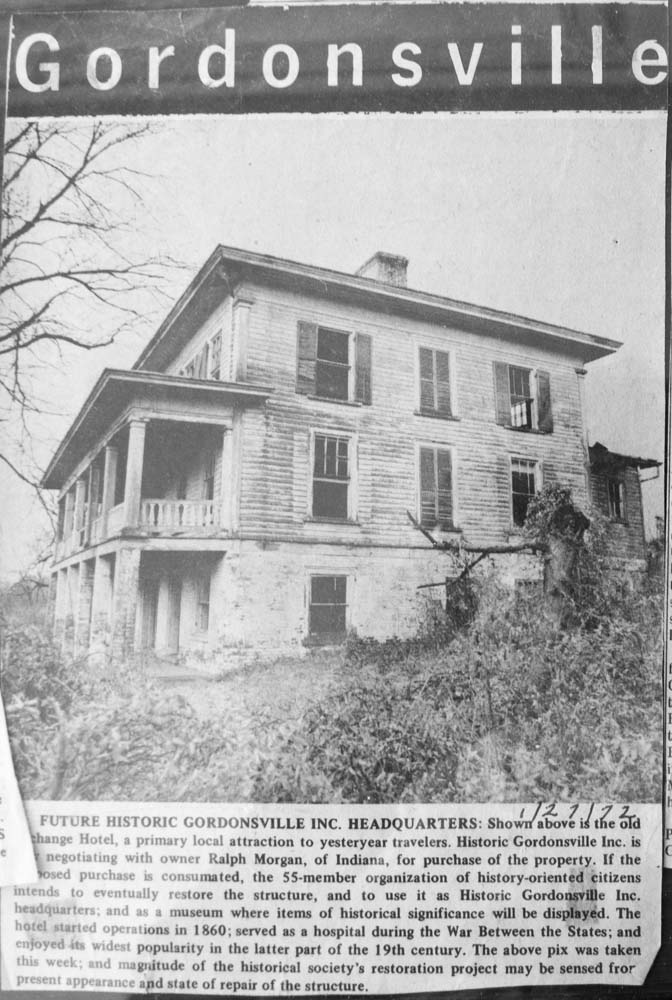 A Newspaper Clipping Dated January 27 1972 Shows The Hotel Just Before Restoration