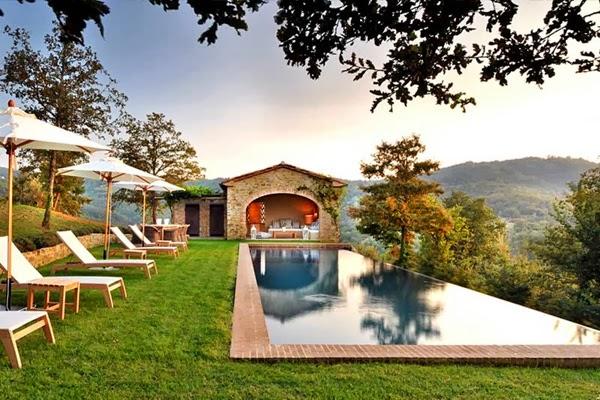 amenajari, interioare, decoratiuni, decor, design interior, stil clasic, vila , italia, tereasa, gradina, piscina