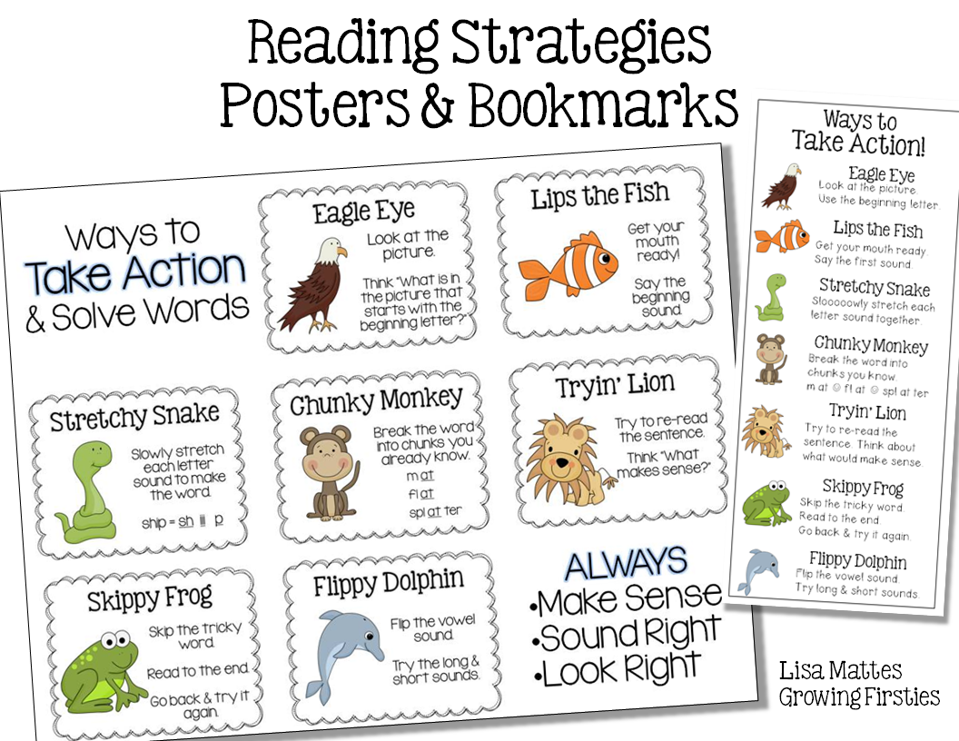 Todays Deal Reading Strategy Freebie on Growing Readers Kindergarten Sight Word