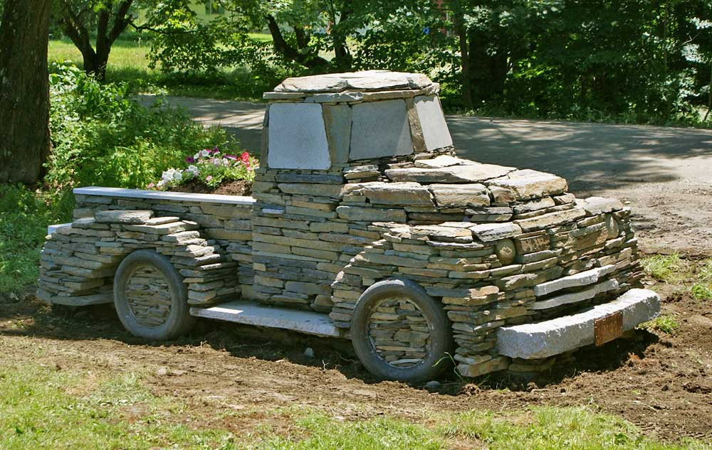 Stone Landscape Projects : Stone art chris millers truck project