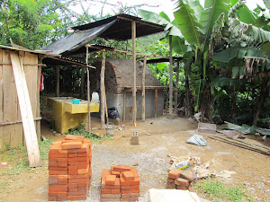 Member in Seamay built oven behind his home