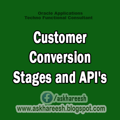 Customer Conversion Stages and API's