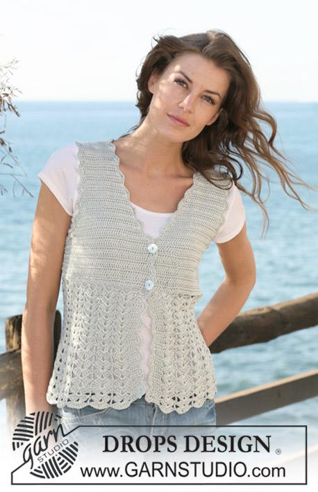 Free Crochet Pattern For Lace Vest : Slimsalabim: Die Weste f?r Mutti