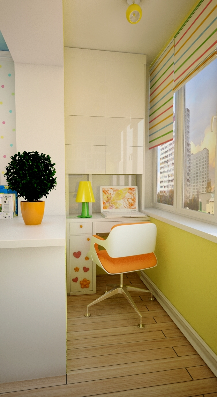 Дизайн детских комнат совмещенных с балконом. - балконные бл.