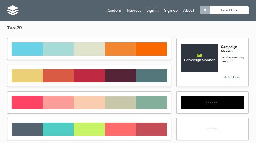 Herramienta para elegir paletas de colores flat jhon urbano - Paleta de colores pared ...
