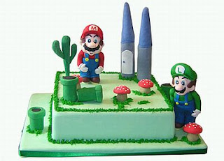 Mario Bros, children party cakes