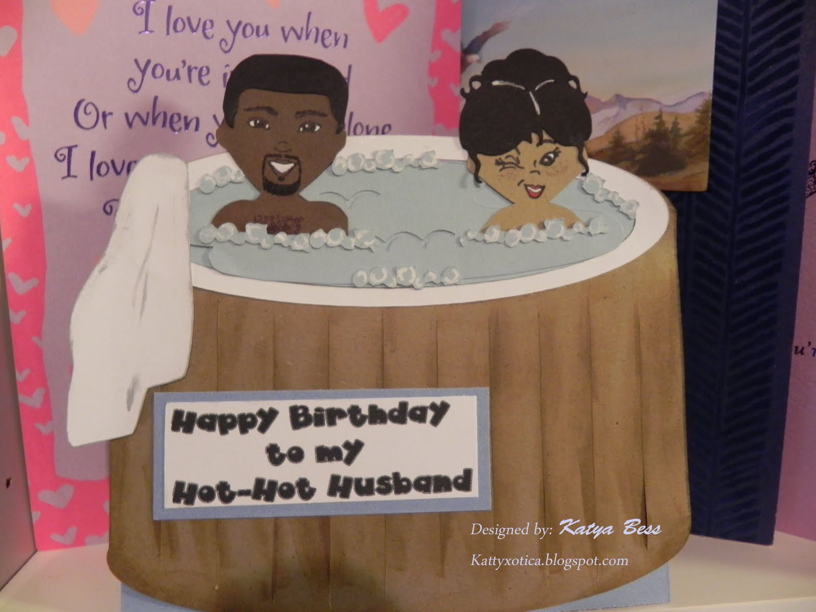 Lovely happy birthday cards for husband pics eccleshallfc kattyxotica s kreations my husband s birthday card hot tub love kristyandbryce Image collections