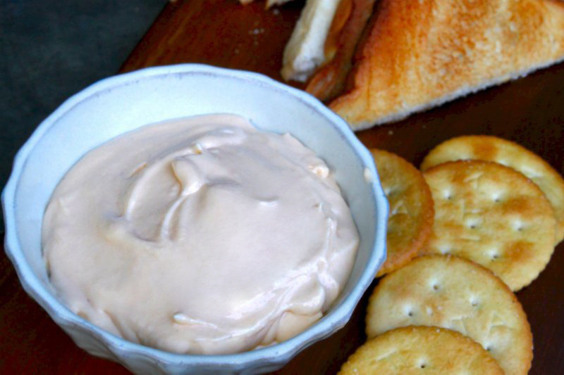 Homemade three-cheese spread