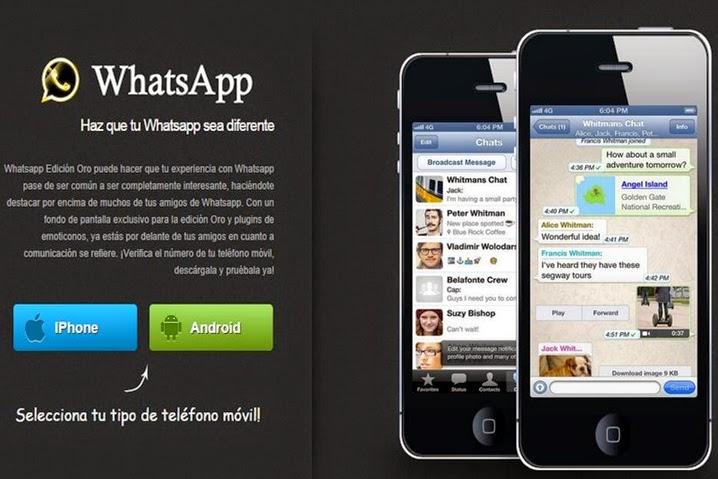 WhatsApp Oro no existe, no caigas en la estafa