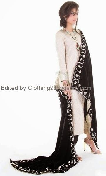 Chenille Shawl Designs 2015 2016 Pakistani Velvet Formal