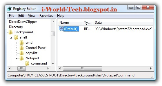 C windows system32 notepad exe
