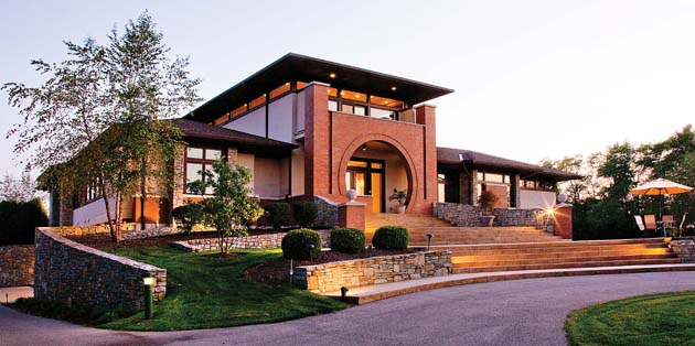 Happyroost frank lloyd wright inspired home outside of for Frank lloyd wright inspired home plans