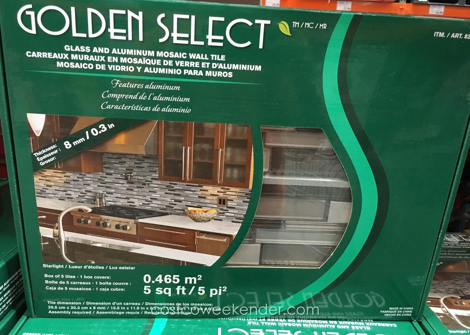 Golden Select Starlight Glass And Aluminum Mosaic Wall
