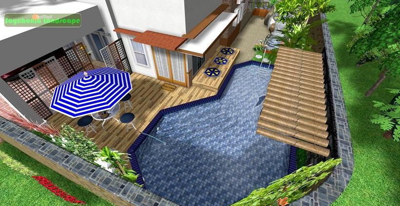 kolam renang minimalis desain taman minimalis