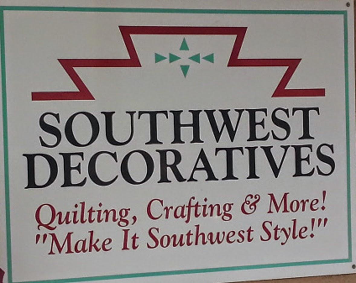 Patchwork breeze quilt shop visit in new mexico for Southwest decoratives