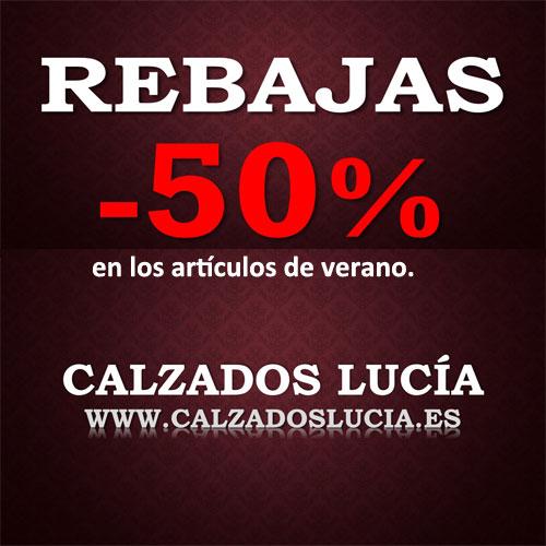 Solo en AGOSTO encontrará los descuentos en nuestra web: calzadoslucia.es