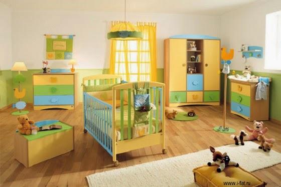 Décoration chambre bébé jaune et bleus a faire