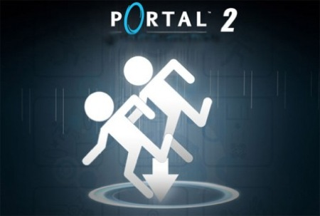 portal 2 background. portal 2 logo wallpaper.