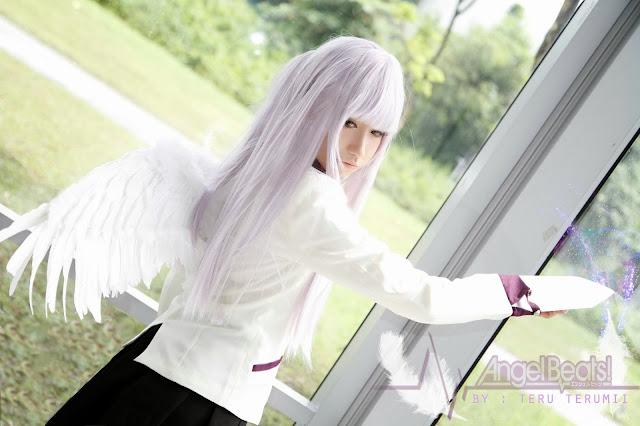 Kanade Tachibana Pretty Asian Cosplay Japanese Angel Beats Anime manga otaku kawaii cute coslayer tenshi tenshii angel cosplay