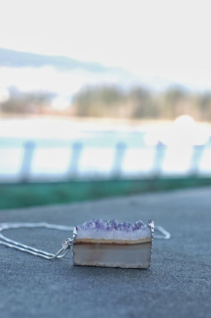amethyst slice necklace Dear You, Pretty Things Vancouver