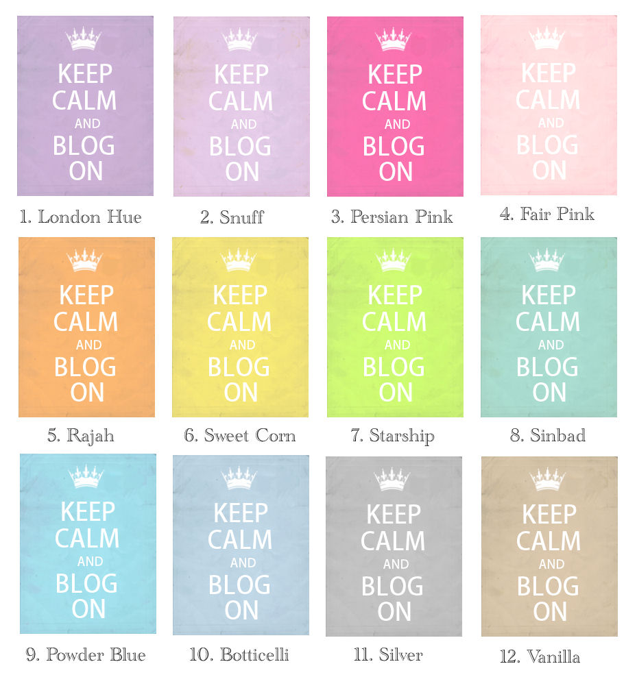cute cool keep calm and blog on and choose your color