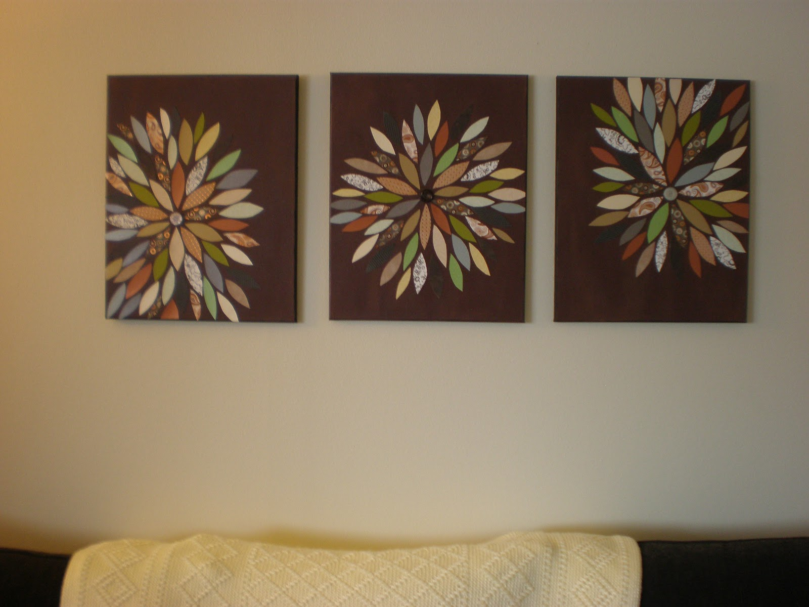 Handmade by HJWilke: DIY (Pinterest Inspired) Wall Art
