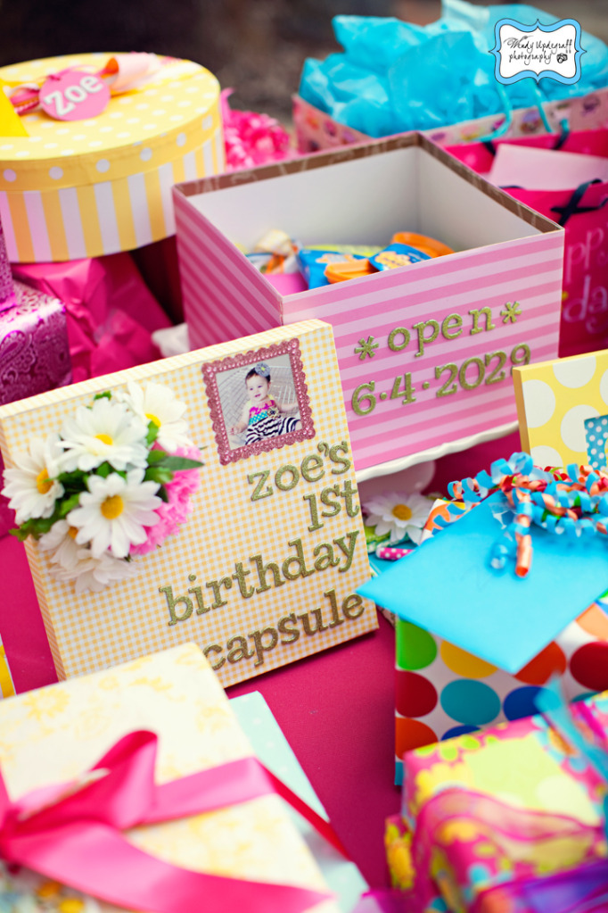 Bright as the sun 1st birthday party time capsule via Kara's Party Ideas KarasPartyIdeas.com #1stbirthdaypartyideas