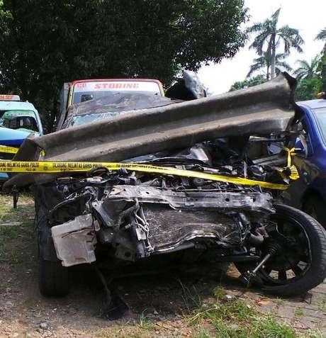 Foto Kendaraan Dul yang Terlibat Kecelakaan