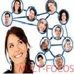 Box vertical flutuante de redes social