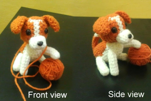 Knitting Pattern For Jack Russell Dog : Busy fingers, busy life...: Friday Find! Amigurumi Dog