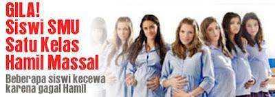 Gila siswi SMU satu kelas hamil massal