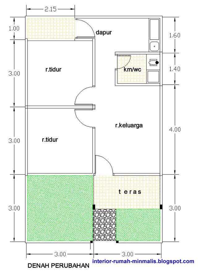 Denah Rumah Type 21 Kumpulan Foto Rumah